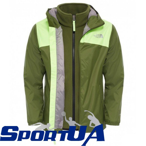 super cute shop for best classic style Куртка детская The North Face B ELDEN RAIN TRICLIMATE JACKET  T0CRZ5-H7F-SCALLION-GREEN