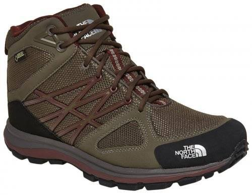 Ботинки The North Face M LITEWAVE MID GTX T0CCP9-V6E-SHROOM-BROWN-SEQUOIA-RED